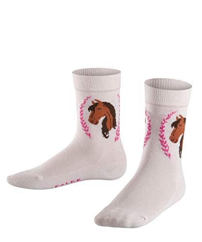 FALKE Mädchen Horse Socken, Rosa (Powder Rose 8902), 27-30 -