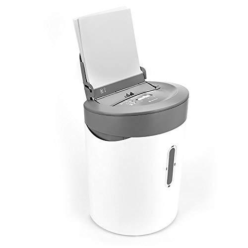 wowowa Auto Feed 50-Blatt-Aktenvernichter für kleine Büros, 21-Liter-Abfalleimer, Vernichtet Papier/CD/DVD/Kreditkarte, Überlast- und Wärmeschutz, Vernichtet bis zu 6 Blatt durch manuellen Einzug
