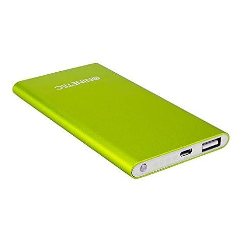 NINETEC NT-605 4500mAh Ultra Power Slim Banque externe batterie supplémentaire chargeur de batterie