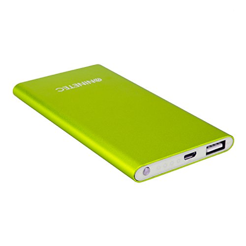 NINETEC NT-605 4.500mAh Ultra dünne PowerBank Externer Zusatz-Akku-Pack Ladegerät Grün