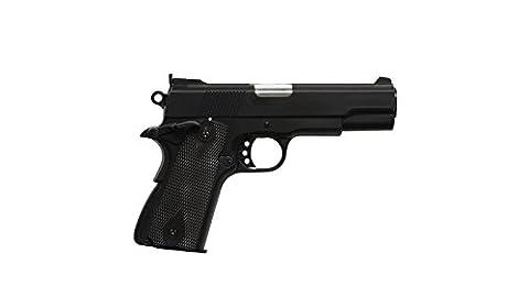 HFC HA121 Airsoft Spring Federdruck Pistole in Schwarz, Nachbildung des 1911 Stil, unter 0.5 Joules, kein Hop up, GRATIS 2000 BULLDOG BBS 0.20G