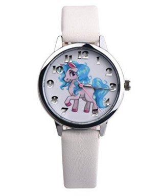 Ecovers Reloj Lindo del Unicornio Correa de imitación Chico Chica Reloj de Cuarzo Wild Watch Holiday Regalo de cumpleaños