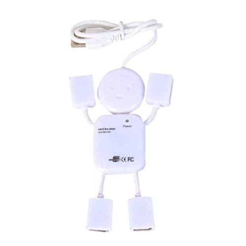 XBOSS i52.0Mini Travel 4Port USB Hub für iMac, MacBook, MacBook Pro, MacBook Air, Mac Mini, Windows Oder Jeden PC Mini Travel Ac Adapter