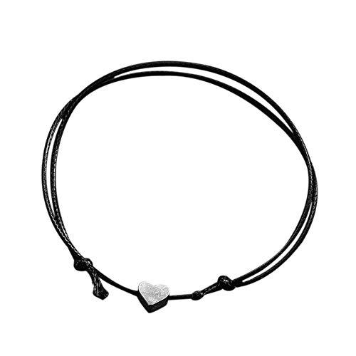 für Frauen, Winkey Crystal Heart Armband für Frauen Romantic Fashion Classic Luxury Strasssteine (Schwarz) ()