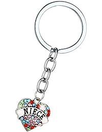Hacoly Pendentif Porte-clés Amour de Membre du Groupe La Famille Lindo Porte -clés Porte-clés Fille Sac de… fed65b4234c