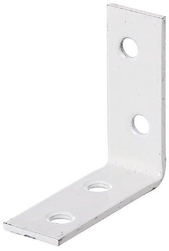 GAH-Alberts 336684 Stuhlwinkel - weiß kunststoffbeschichtet, 40 x 40 x 15 mm / 12 Stück