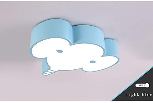 efanten Form Kinderzimmer Deckenlampe, Eisen + Acryl Lampenschirm Junge Mädchen Schlafzimmer Leuchte (weißes Licht)-blue*L ()