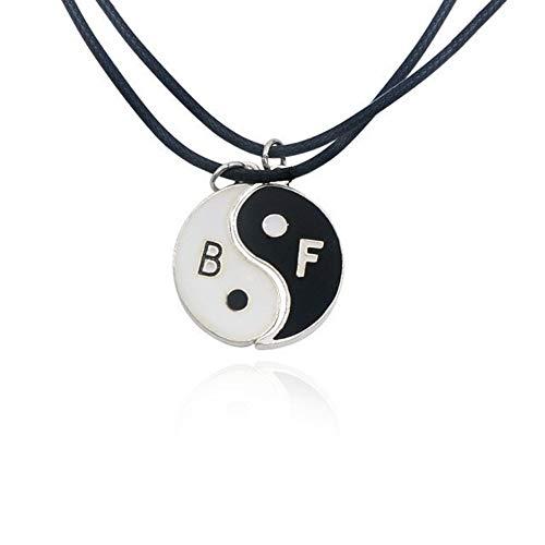 skette,Tai Chi Bester Freund Halskette Frauen Beste Freunde Für Immer Schlüssel Tier Herzen Halsketten Anhänger Femme ()
