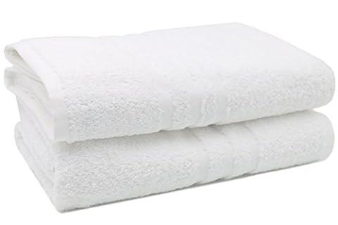 ZOLLNER® 2er-Set Badetücher / Handtuch XXL / Saunatücher, weiß mit