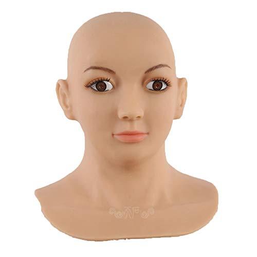 listische Silikon-Maske Weibliche Masken Halloween Weihnachts Masken Angel Face Cosplay Transgender Shemale Crossdress ()
