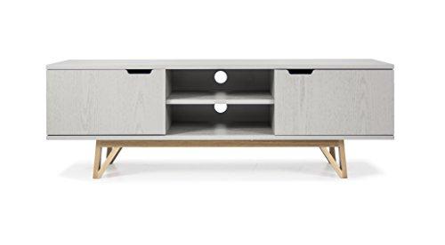 TENZO 6972-912 Cross Designer Banc TV Chêne Gris 45 x 150 x 50 cm
