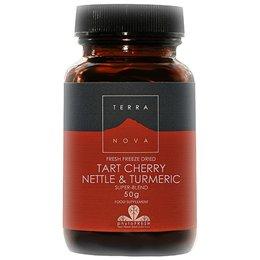 Terra Nova Tart Cherry, Nettle and Turmeric Super Blend (50g powder suitable for Vegetarians and vegans) by Terranova