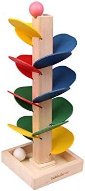 Hilai 1 Jeu Arbre en Bois Feuilles détachables marbre Balle Run Piste Blocs Jouets éducatifs pour  s Jeu coloré | Offre Spéciale
