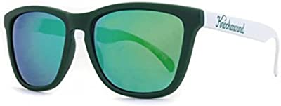 Gafas de Sol Knockaround Classic Premium Dark Green and White / Green Moonshine