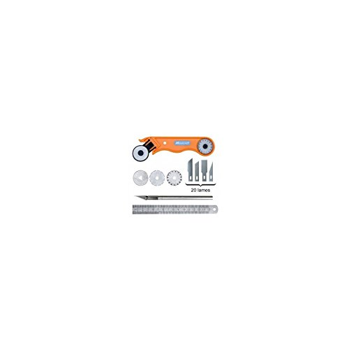 Maxicraft 90976 Cutter à lame circulaire ø 28 mm avec 3 lames