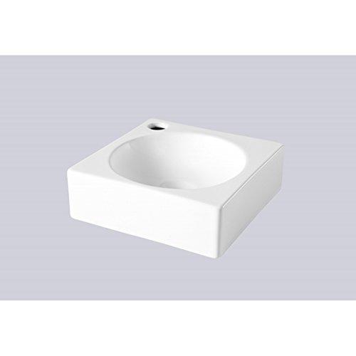 Lave mains carré contemporain blanc