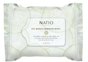 Natio Eye Make-Up Remover Wipes, 30 wipes