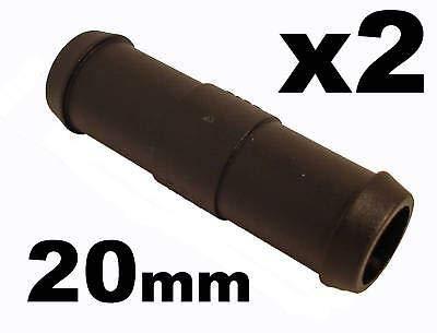 227s - Deux raccords de tuyaux - droit - tuyaux d'eau/carburant/reniflard - résistant à des températures entre -30 et + 140 °C - 20 mm