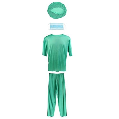 (MagiDeal Doktor Kostüm Halloween Party Kostüm Fancy Kleid Chirurg Erwachsenen Outfit)