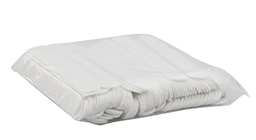 100x Mundspatel Plastik weiß, Kosmetex, 100 Stück