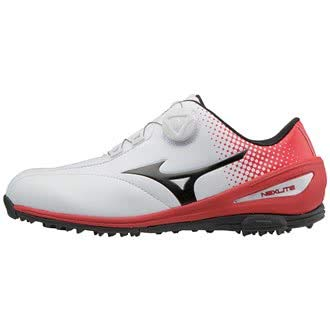 Mizuno 2018 NEXLITE 004 BOA Spikeless Imperméable Chaussures de golf pour hommes - White/Red 8UK