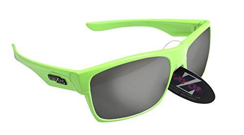 RayZor Professional leichte UV400grün Sports Wrap Archery Sonnenbrille, mit Ein Smoked verspiegelter Blendfreie Objektiv