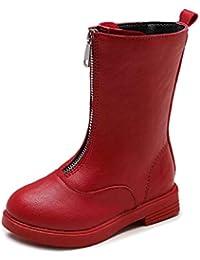 Grueso Niña Invierno Otoño Casual Xfentech Cálido Zapatos Moda Botas Niñas Para Aqw185w
