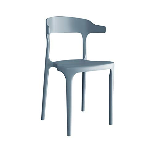Sedia da pranzo casa, plastica schienale sgabello da bar colazione sedia da ufficio moderna minimalista sedia creativa da bar bianco nero grigio, per cucina, ristorante, caffetteria, bar(43*41*76cm)