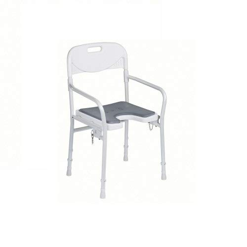 Stuhl-arm-fach (DIETZ Duschstuhl 9400-A faltbar mit Pad Duschhocker Duschsitz)