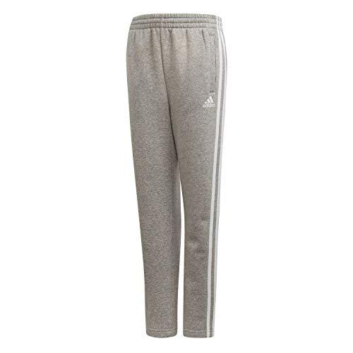 adidas Jungen 3 Stripes Brief Hose, Medium Grey Heather/White, 152