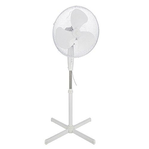 COM-FOUR® Standventilator mit Standfuss, Ø 43 cm, 45 W (Standventilator 45W)