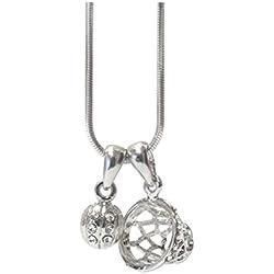 Joyas Ant Symphony nuevo cadena Niños niña joyas collar collar Baloncesto 2colgante con cristales