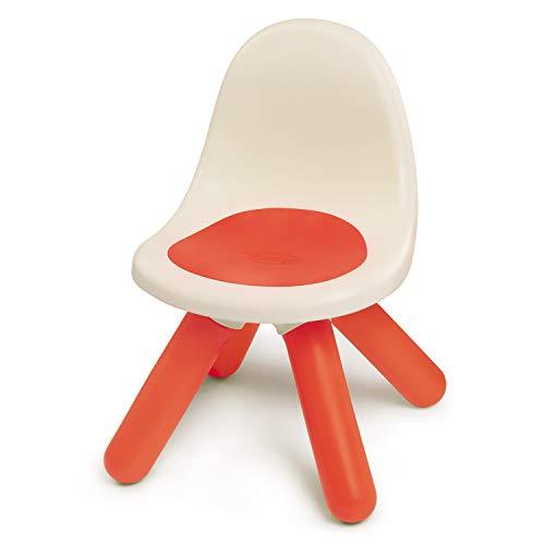 Smoby 880103 Kid Stuhl rot, Design Kinder-Stuhl aus Kunststoff mit Rückenlehne für Kinderzimmer oder passend zu Smoby Spielhäusern, Made in France, rot