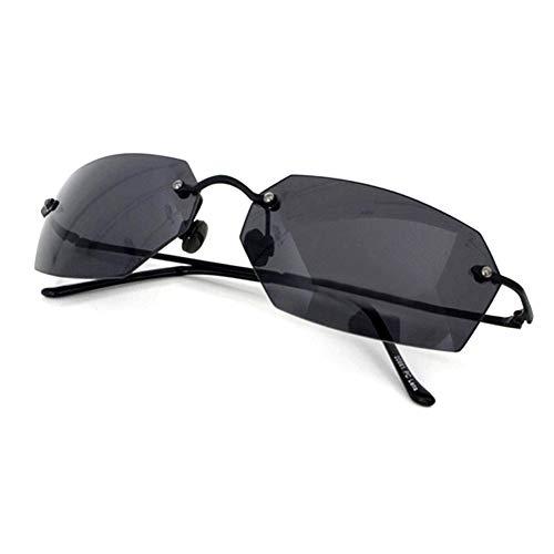 PROSOOL Sunglasses Herren Matrix-Agent Smith Square Sonnenbrille Männer Ultra Randlos Normale Größe Schwarz