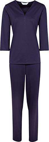 Charmor Schlafanzug Interlock-Jersey lila Größe 44