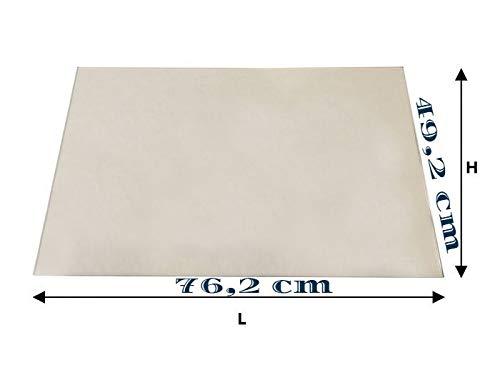 VETRO CERAMICO x caminetti EDILKAMIN IDRO 100 (76,2 cm X 49,2cm) spessore 4 mm