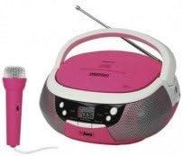 Daewoo - Radio cd portátil  dbu-59 rosa con usb