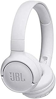 JBL Tune T500BT Powerful Bass Bluetooth Wireless On-Ear Headphones with Mic (White)