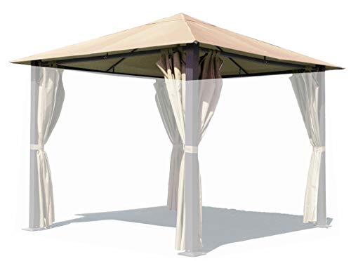 QUICK STAR Ersatzdach für Pavillon Paris 3x3m Pavillondach Sand