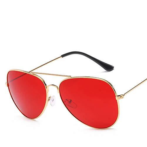 sijiaqi Neue Metall Marine Film Sonnenbrillen Großhandel Trend Sonnenbrillen Unisex Mode Sonnenbrillen,9-Red