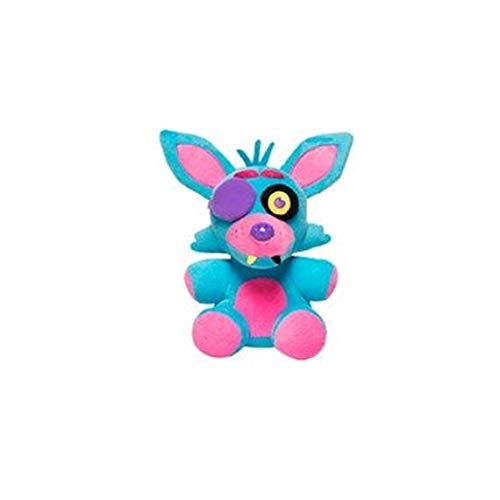 Five Nights At Freddys - Foxy Nightmare Neon Blacklight Plush - Blue - 10cm 4""