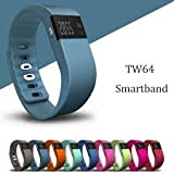 GoBuy TW64 Bluetooth V4.0 Smart Watch Sport Wristband Gym Running Bracelet Pedometer Fitness Activity Tracker Reminder for IOS 6.1+version, Android 4.3+version (Black) by GOBUY