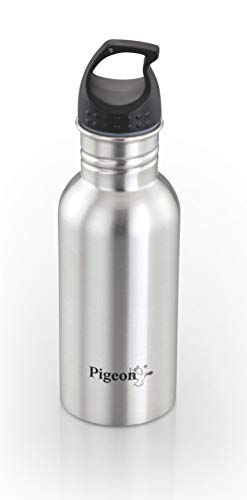 Pigeon King Stainless Steel Water Bottle, 600ml, Silver