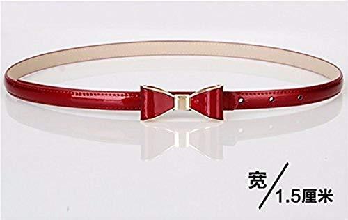 FENCAIYAO Kleider Gürtel, Frauen Bow Wild Skinny Thin Belt (Color : The Red, Größe : The S) Bow Skinny Belt