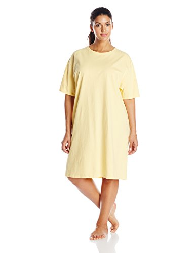 Hanes Damen Nachthemd Gelb - Daffodil Yellow