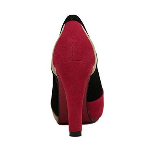 Dress Pompe Matte bocca poco profonda scarpe intorno al cortile punta Primavera Estate Autunno red (only red)