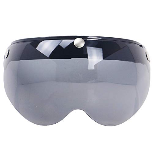 Dispositivo di Protezione del Motociclo Casco Moto Universale Antivento 3-Snap Visiera Anteriore Flip-up Visiera Parabrezza Lente per Occhiali da Sole Moto Casco Nuovo Casco Moto Universale Antivento