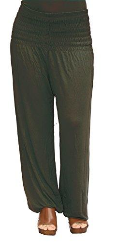 Jersey-stretch-yoga-hosen (Damen Pumphose / Haremshose / Yoga Pant Stretch Pump Sport Aladin Hose (Schoko-Braun))