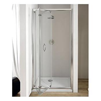 98//102 100cm Porta doccia a soffietto libro cristallo 6mm opaco alluminio cromo lucido h.190cm CLIO