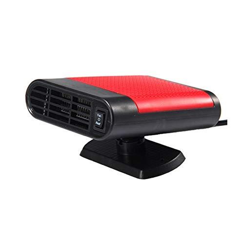 Wemem Fan Heater 100 Doble Uso Modo De Ventilador O Calentador 12V 150W Portátil con Soporte Giratorio De 360 Grados(Negro Rojo)